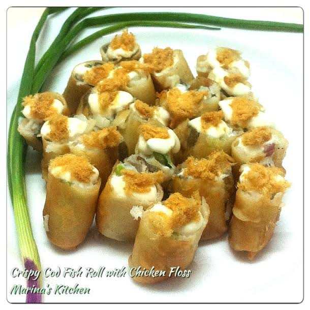 Crispy Cod Fish Roll with Chicken Floss