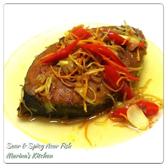 Sour & Spicy Acar Fish | Marina's Kitchen