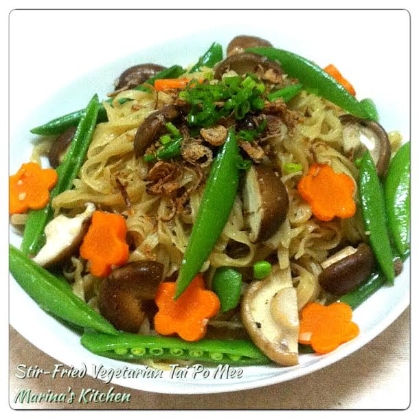 Stir-Fried Vegetarian Tai Po Mee