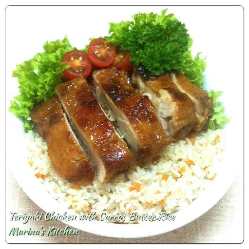 Teriyaki Chicken with Carrot Butter Rice