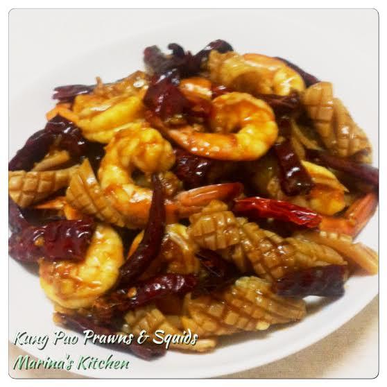 Kung Pao Prawns & Squids