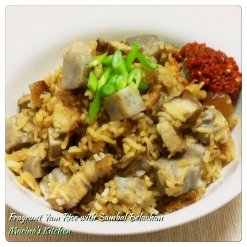 Fragrant Yam Rice with Sambal Belachan