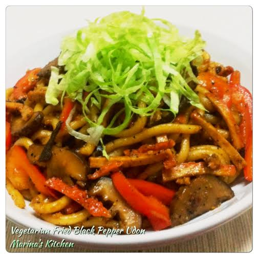 Vegetarian Fried Black Pepper Udon