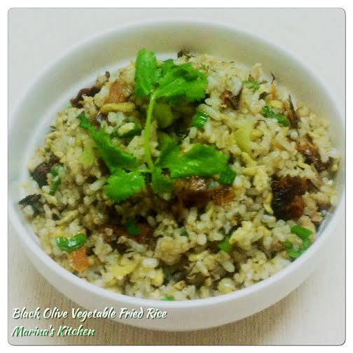 Black Olive Vegetable Fried Rice