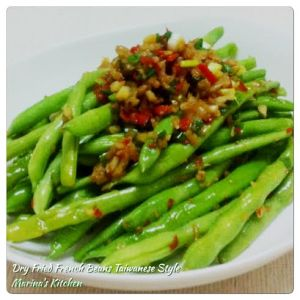 Dry Fried French Beans Taiwanese Style