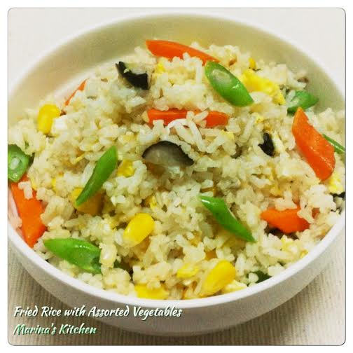 Fried Rice with Assorted Vegetables