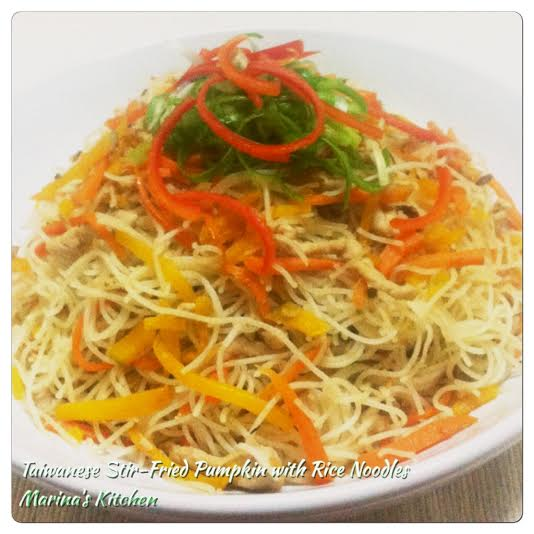 Taiwanese Stir-Fried Pumpkin with Rice Noodles