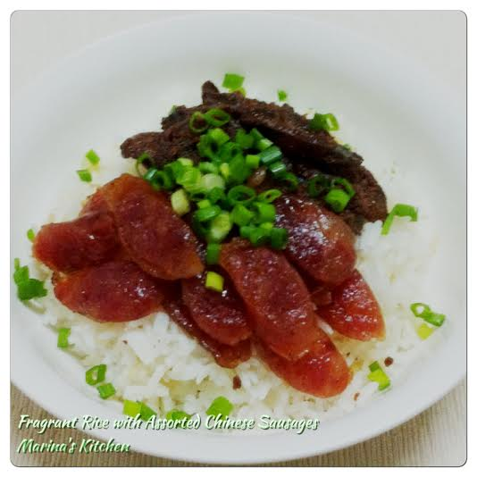 Fragrant Rice with Assorted Chinese Sausages