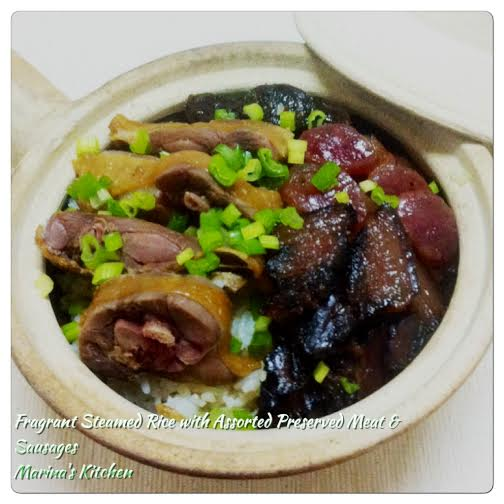 Fragrant Steamed Rice with Assorted Preserved Meat & Sausages