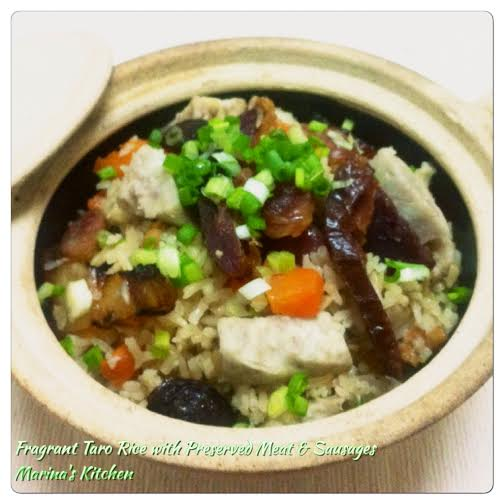 Fragrant Taro Rice with Preserved Meat & Sausages