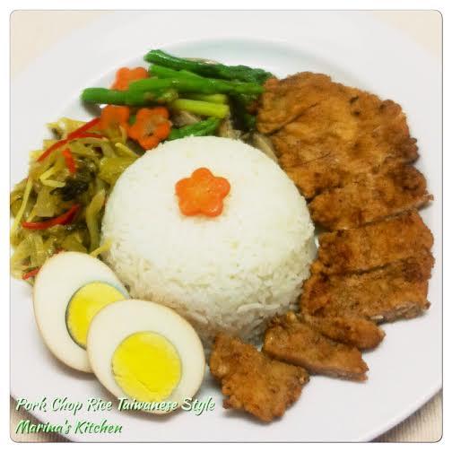 Pork Chop Rice Taiwanese Style