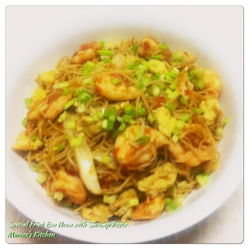 Special Fried Bee Hoon with Shrimp Paste
