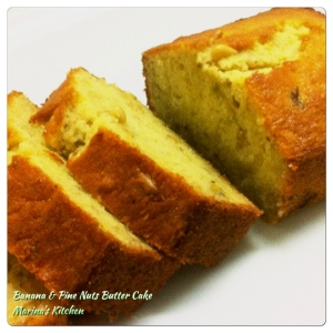 Banana & Pine Nuts Butter Cake
