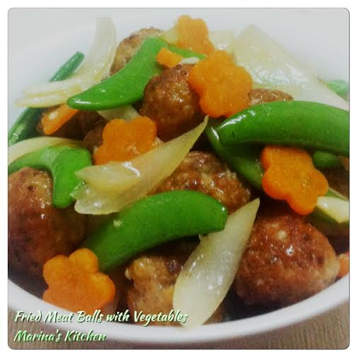 Fried Meat Balls with Vegetables