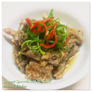 Steamed Spareribs with XO Sauce