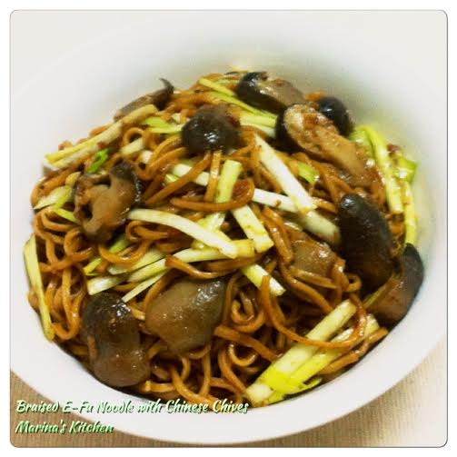 Braised E-Fu Noodle with Chinese Chives