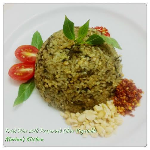 Fried Rice with Preserved Olive Vegetable