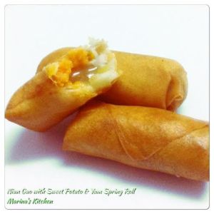 Nian Gao with Sweet Potato & Yam Spring Roll