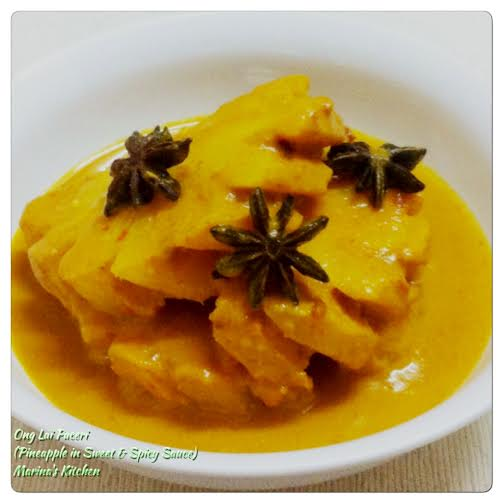 Ong Lai Paceri (Pineapple in Sweet & Spicy Sauce)