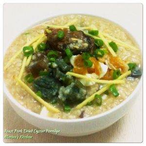 Roast Pork Dried Oyster Porridge