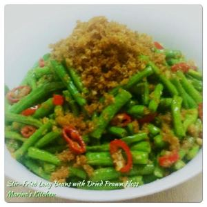 Stir-Fried Long Beans with Dried Prawn Floss