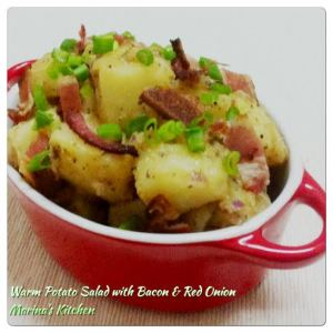Warm Potato Salad with Bacon & Red Onion