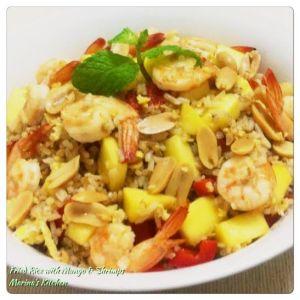 Fried Rice with Mango & Shrimps