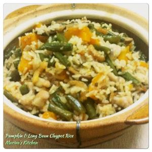 Pumpkin & Long Bean Claypot Rice