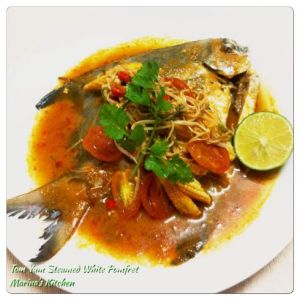 Tom Yam Steamed White Pomfret