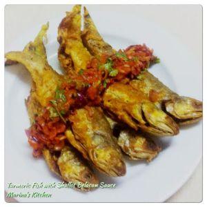 Turmeric Fish with Shallot Belacan Sauce