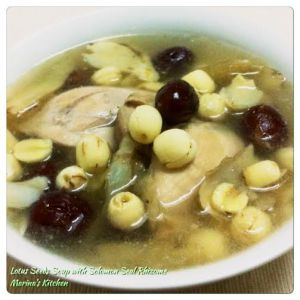 Lotus Seeds Soup with Solomon Seal Rhizome
