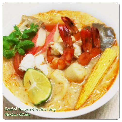 Seafood Tomyam Mee Hoon Soup