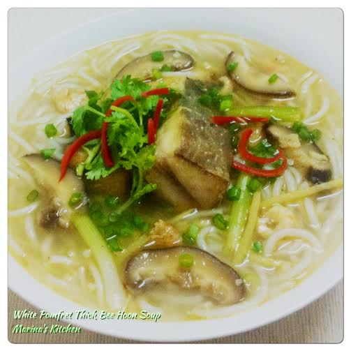 White Pomfret Thick Bee Hoon Soup
