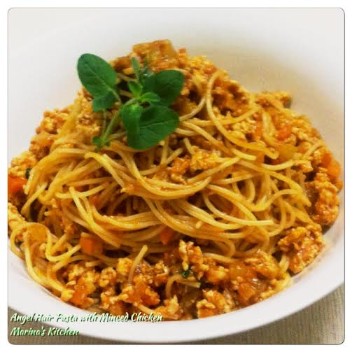 Angel Hair Pasta with Minced Chicken