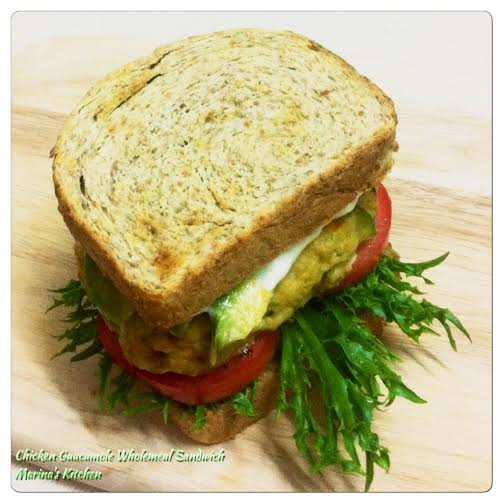 Chicken Guacamole Wholemeal Sandwich Marina S Kitchen