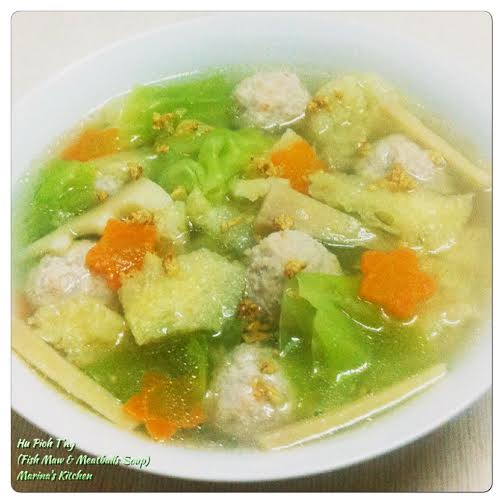 Hu Pioh T'ng (Fish Maw & Meatballs Soup)