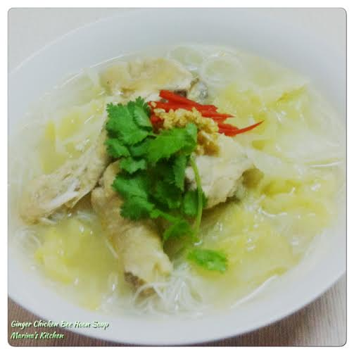 Ginger Chicken Bee Hoon Soup