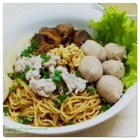 Minced Pork & Mushroom Noodles