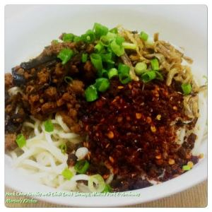 Hock Chew Noodles with Chilli Dried Shrimps, Mixed Pork & Anchovies