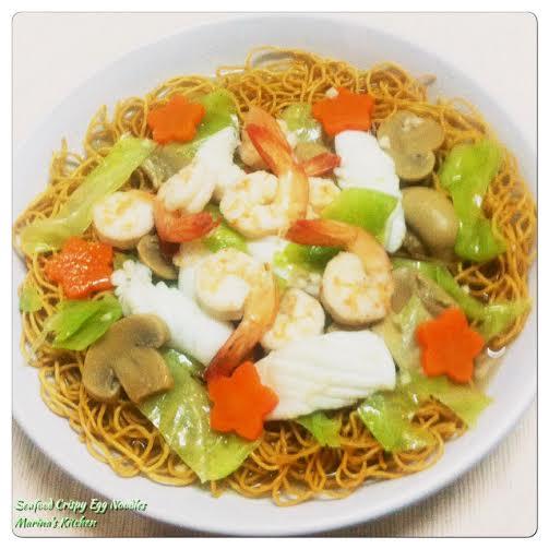 Seafood Crispy Egg Noodles
