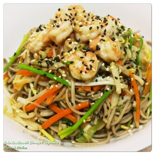 Soba Noodles with Shrimps & Vegetables