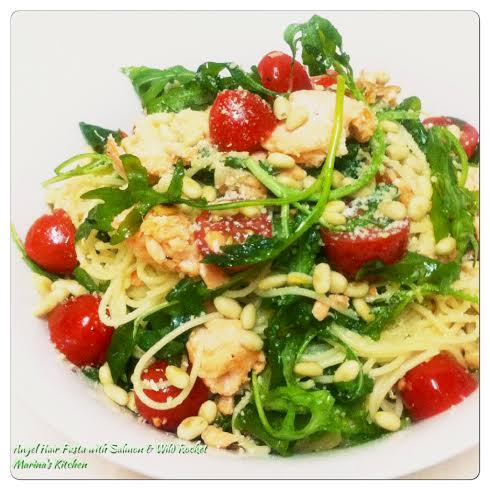 Angel Hair Pasta with Salmon & Wild Rocket