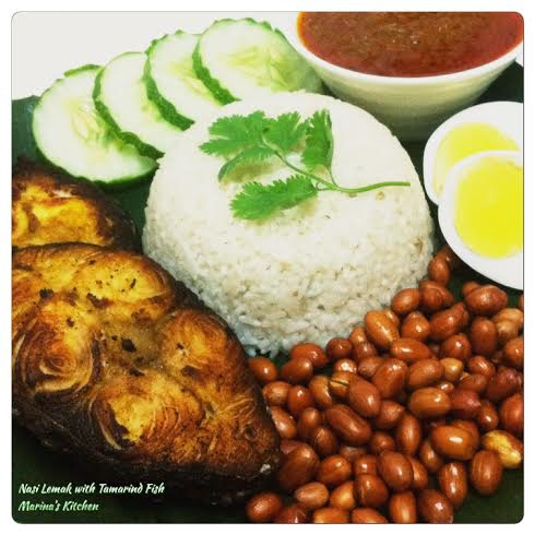 Nasi Lemak with Tamarind Fish