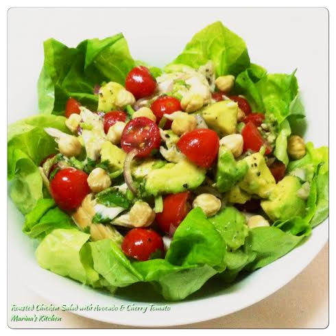 Roasted Chicken Salad with Avocado & Cherry Tomato