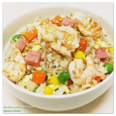Fried Rice with Golden Flaxseed