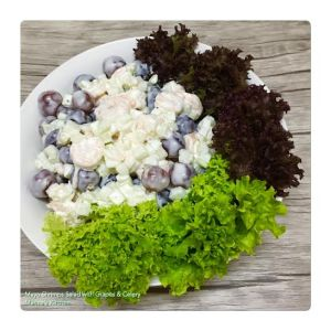 Mayo Shrimps Salad with Grapes & Celery