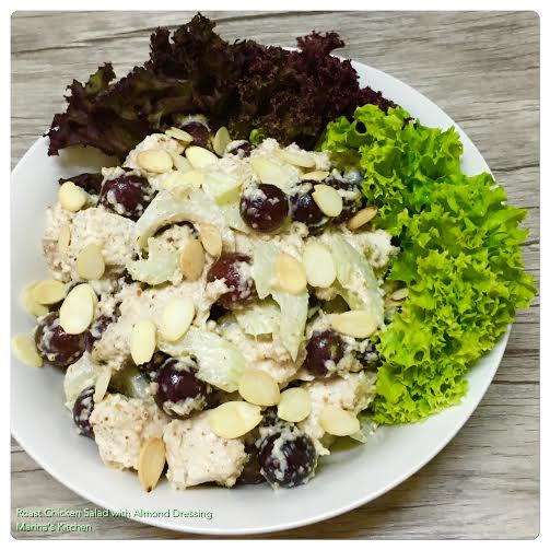 Roast Chicken Salad with Almond Dressing