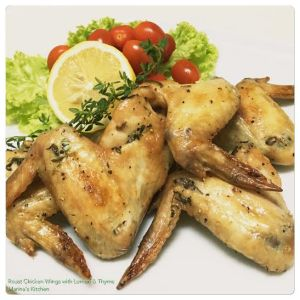 Roast Chicken Wings with Lemon & Thyme