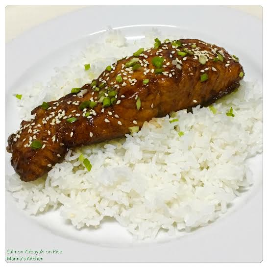 Salmon Kabayaki on Rice