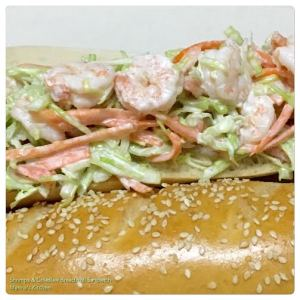 Shrimps & Coleslaw Bread Roll Sandwich